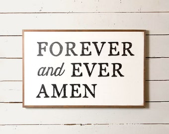 """Country Song Wall Sign """"Forever and Ever Amen"""" 