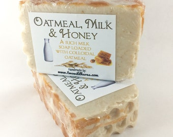 OATMEAL, MILK & HONEY, Milk, Colloidal Oats Soap, 3 oz