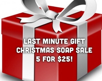 5 for 25 Christmas Soaps Sale
