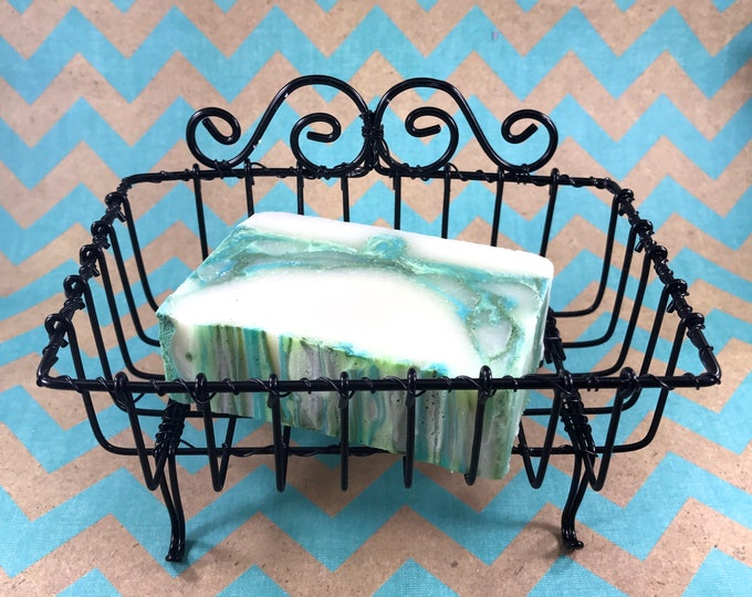 Vintage Wire Soap Basket, Black, Shabby Chic, New