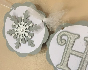 Snowflake Party Banner - Reserved for MALISSIAU