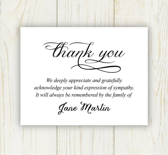 25 unique funeral thank you notes ideas on pinterest funeral thank