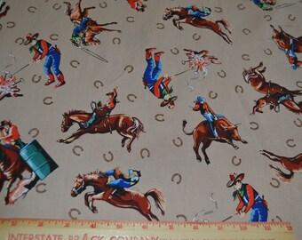 Western Cowboy Cowgirl Cotton Fabric Blanktextiles 1 yard listing