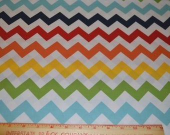 "Riley Blake Chevron Fabric Medium Multi Color Cotton 42"" Wide 1 Yard listing"