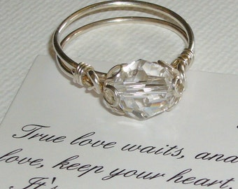 Swarovski Crystal, Sterling Silver, Purity Ring