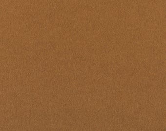 "Light Brown Solid Tone Designer Wool Felt by the Foot - 100% Wool, 70.9"" Wide, 3mm and 5mm Thicknesses Available, Buy More Save More"