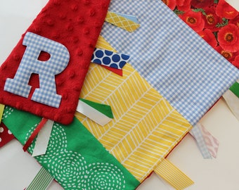 baby, taggie, blanket, personalized, gift, Wizard of Oz, ruby slippers, emerald city, yellow brick road, minky, ribbon