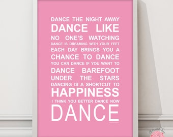 Expressions of your world Dance wall art print