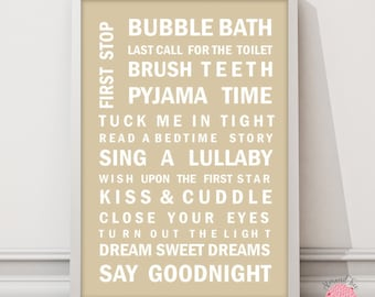 Kids Routine wall art print
