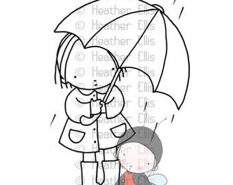 P 109, Umbrella, rain,