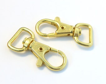 25 Gold Plated Metal Lobster Swivel Clasps H192-25