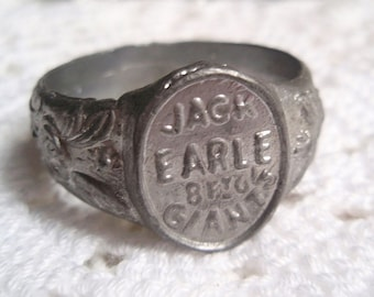 Vintage Giant Souvenir Ring 1930's Jack Earle Carnival Side Shows Freak Shows Circus