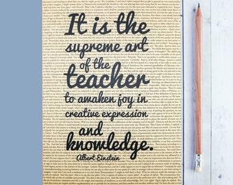 Teacher Gifts - Einstein Quote - Journal - Teacher Planner - Graduation Gift - Albert Einstein - Gifts For Teachers