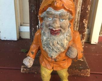 Antique cast iron Garden Gnome