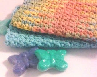 Dish Cloths, Wash Cloth, Facial Cloth, Cotton Wash Cloth, Cotton Dish Cloth, Set of 2