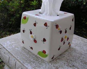 Ladybug Lovers Tissue Box Cover