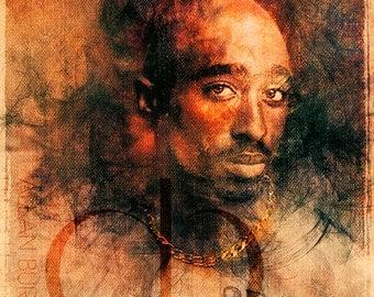 Tupac Shakur - Limited Edition Print 11 x 17