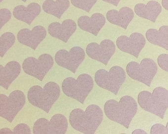 Heart Stickers, Labels, Tag, Packaging, Seal, Envelope, Gift Wrapping, Embellishment, Blank patternKraft Brown Circle 140pc