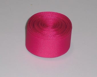 Shocking Pink 7/8 inch Solid Grosgrain Ribbon 10 yards