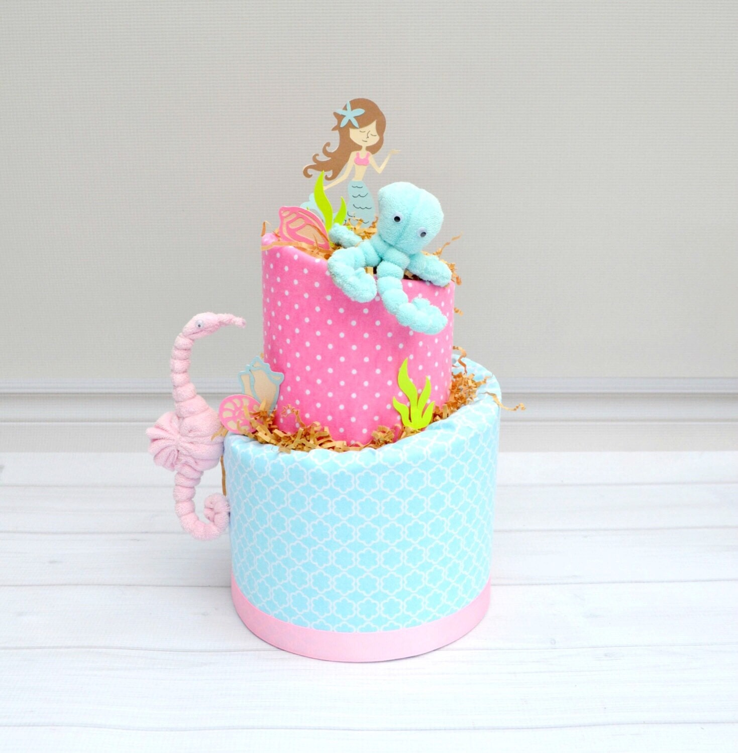 Mermaid Baby Shower Decor Mermaid Diaper Cake Mermaid Shower