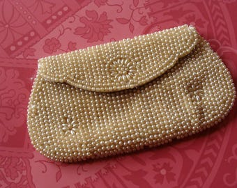 Vintage Pearl Beaded Small Evening Purse