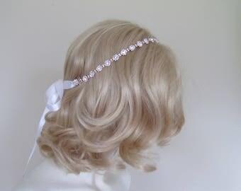 Rose Gold Rhinestone Bridal Headband,Bridal Accessories,Wedding Accessories,Crystal Wedding Hairband,Bridal Headpiece,#H60