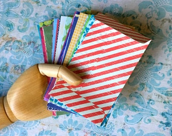 Handmade Envelopes 3x5 Coin Style Colorful Assortment Small Envelopes Thank You Notes Recipe Cards Stationery Pretty Product Packaging