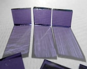 """100 Pieces 1/2"""" x 1/2"""" Purple Stained Glass Mosaic Tiles Hand cut"""