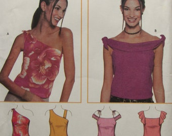 Simplicity 7020/Uncut Sewing Pattern/Junior Size 3/4 to 9/10 Summer Tops/2001