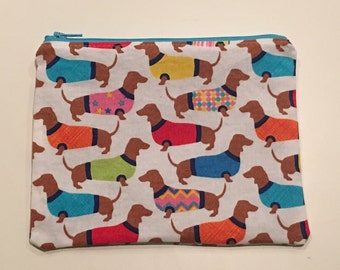 Sandwich Bag, Zippered Snack Bag Boy, Food Bag Zipper Bag, Essential Oil Bag - Dogs