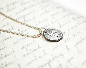 Heart Lock Wax Seal Necklace, Heart Pendant, Romantic Necklace, Gift for Her, Valentines Day Gifts, Lock and Key gifts, Friendship Necklace
