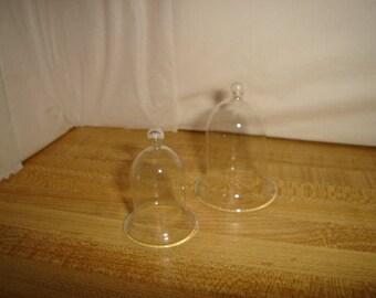 Set/2 Miniature Fairy Garden Glass Cloches/Minis/ Craft Supplies*