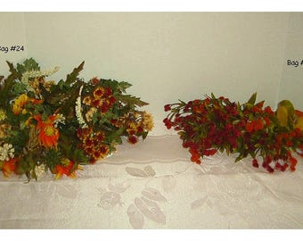 Assorted Floral Bag(s)/ 2 Choices to pick from*/ Bag #24, #26/ Craft Supplies*