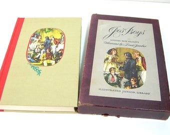 Jo's Boys by Louisa May Alcott, 1949 Junior Library with Slipcase