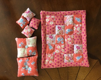 Dollhouse Quilted Comforter and Pillows ships FREE to lower 48