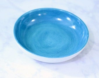Turquoise Ceramic Fruit Bowl // Ceramic Serving Dish // Ceramic Appetizer Dish