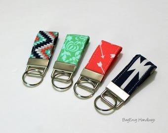Mini Key Fob - Aztec / Arrows - Choose Your Fabric - Teacher / Bridesmaid Gift - SALE