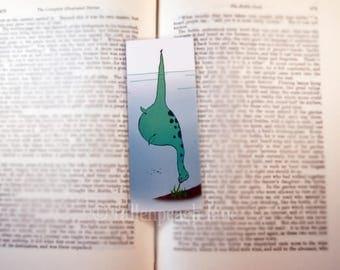 Nessi at Lunch Bookmark - Original, Laminated, Loch Ness Monster Illustration