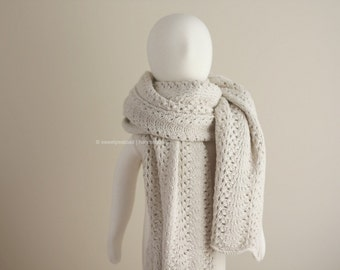 Knit Scarf, Lace Shawl, Lace Shrug