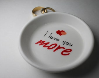 classic . ring holder - I love you more