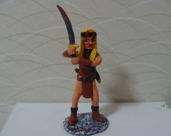 Dark-age Warrior Woman  Figurine *Made To Order*