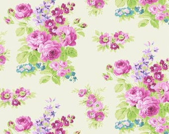 Anne of Green Gables by Penny Rose Fabrics C5681-cre Roses on Cream