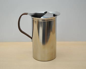 Vintage Mid Century Selandia stainless steel pitcher, retro Danish Modern, with original sticker, excellent condition