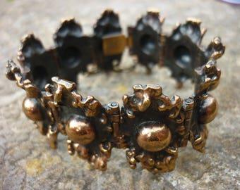 Mid Century Bronze Bracelet by Pentti Sarpaneva Signed