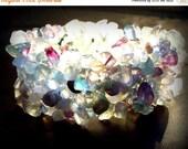 ON SALE ETHEREAL Aquamarine bracelet with amethyst, quartz, and adventurine