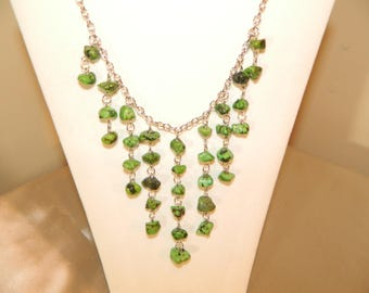 Amazing Green Nugget Statement Necklace