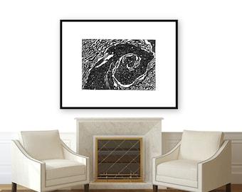 Oil Swirl Print