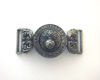 WWI British Officers Buckle Honorable Artillery Company Vintage Metal Buckle WW1 Collectible