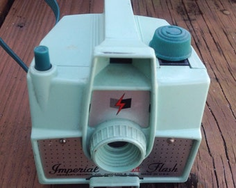 Vintage Mint green Imperial Mark XII camera. Vintage camera, vintage photography, vintage photographer.
