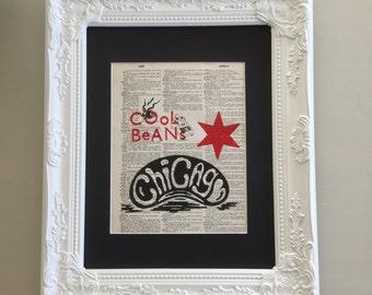 Block Print - Chicago Bean - Cool Beans - Cloud Gate
